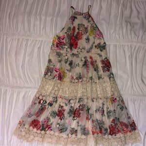 Floral, Lined Anthropologie Dress